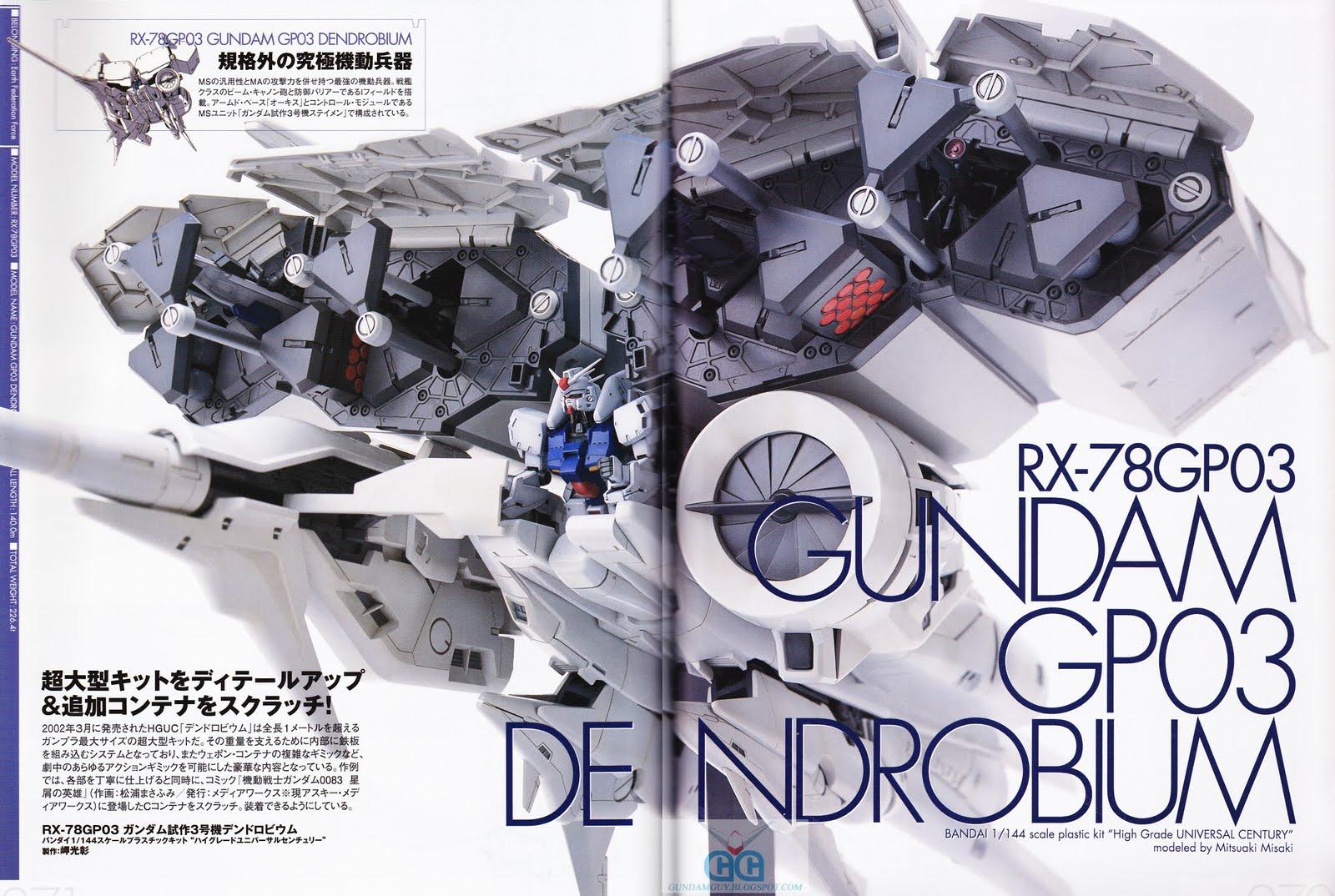 Gundam 0083 Gp03 Hg Mechanics Dendrobium Rx 78gp03