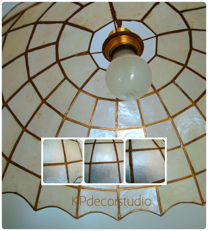 Kp tienda vintage online l mpara de techo con tulipa de - Lamparas techo segunda mano ...