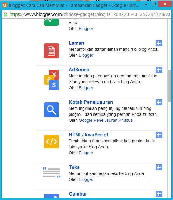 menambahkan html/javasript di blog