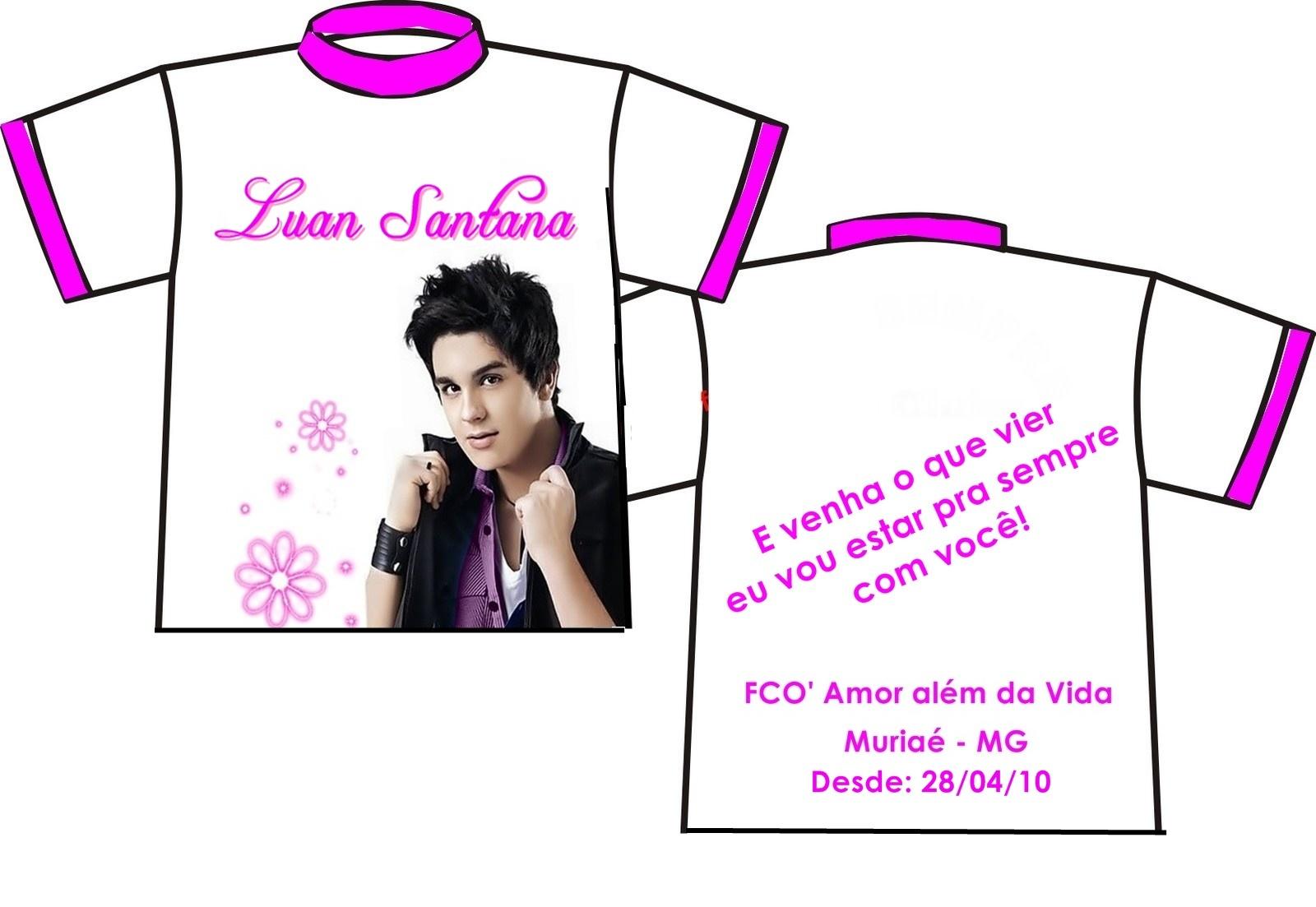 9f6d0da5a2 Luan Santana ♥. Camisa do FCO