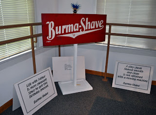 troll and Burma Shave signs visitor center Route 66 State Park
