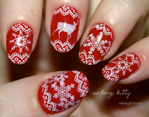 christmas acrylic nails, acrylic nail designs for christmas 2015
