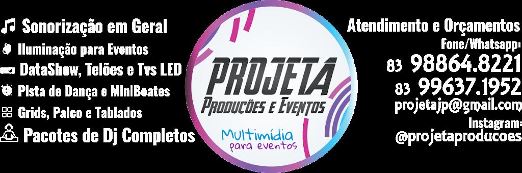 Projeta - Data Show, Telão, Som, Iluminação, Dj(Deejay), Grid e Palcos