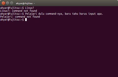 Daftar Perintah terminal Linux bagian pertama