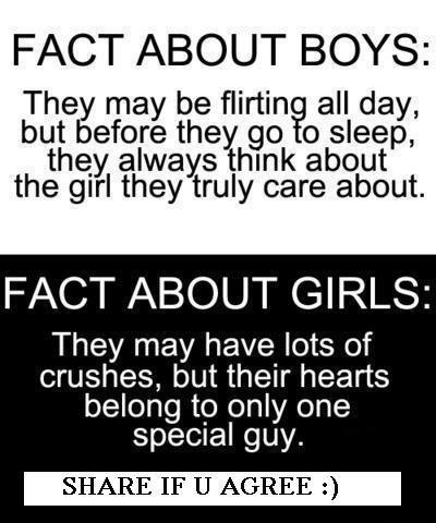 Quotes About Love For Teenage Guys : Very funny Boys v Girls Facts for my Facebook wall photos ~ Only 4 ...