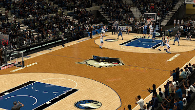 NBA 2K13 Minnesota Timberwolves Court Mod