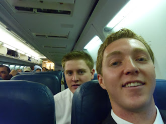 Kel and Eric flying out of MTC