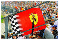 Ferrari fans at Indianapolis Grand Prix 2002