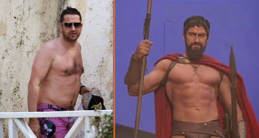 Celebrities and bodybuilding photos: 10 Impressive Male ... Gerard Butler 300