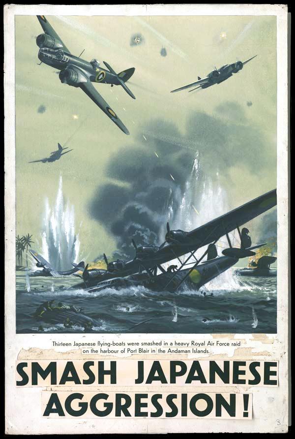 japanese warplanes destroyed by british bombers