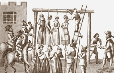 Witches being hanged