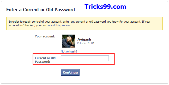 How to Recover a Hacked Facebook Account.-old password