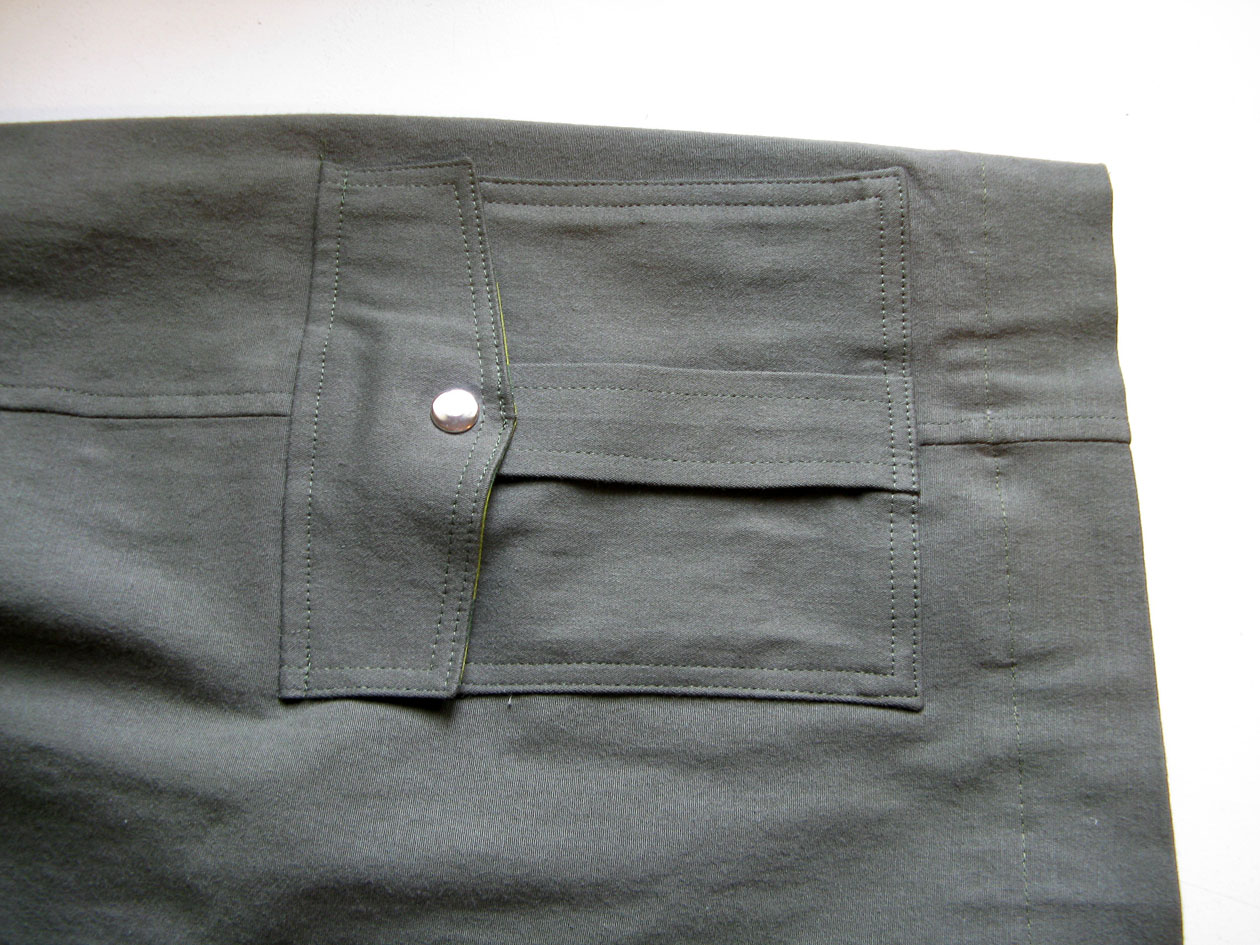 how to make pleated cargo pockets