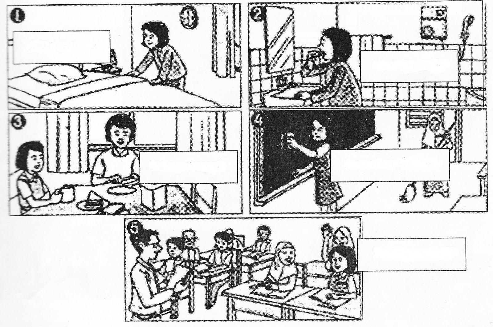 Gambar Kartun Keluarga Membersihkan Rumah Lingkungan Contoh Gambar Menjaga Kebersihan