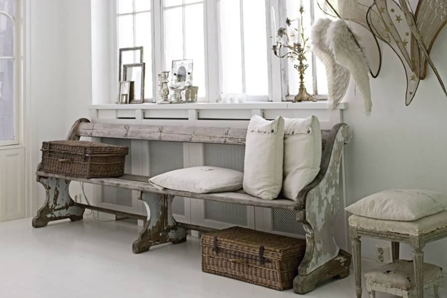 blanco roto shabby chic vintage entry. Black Bedroom Furniture Sets. Home Design Ideas