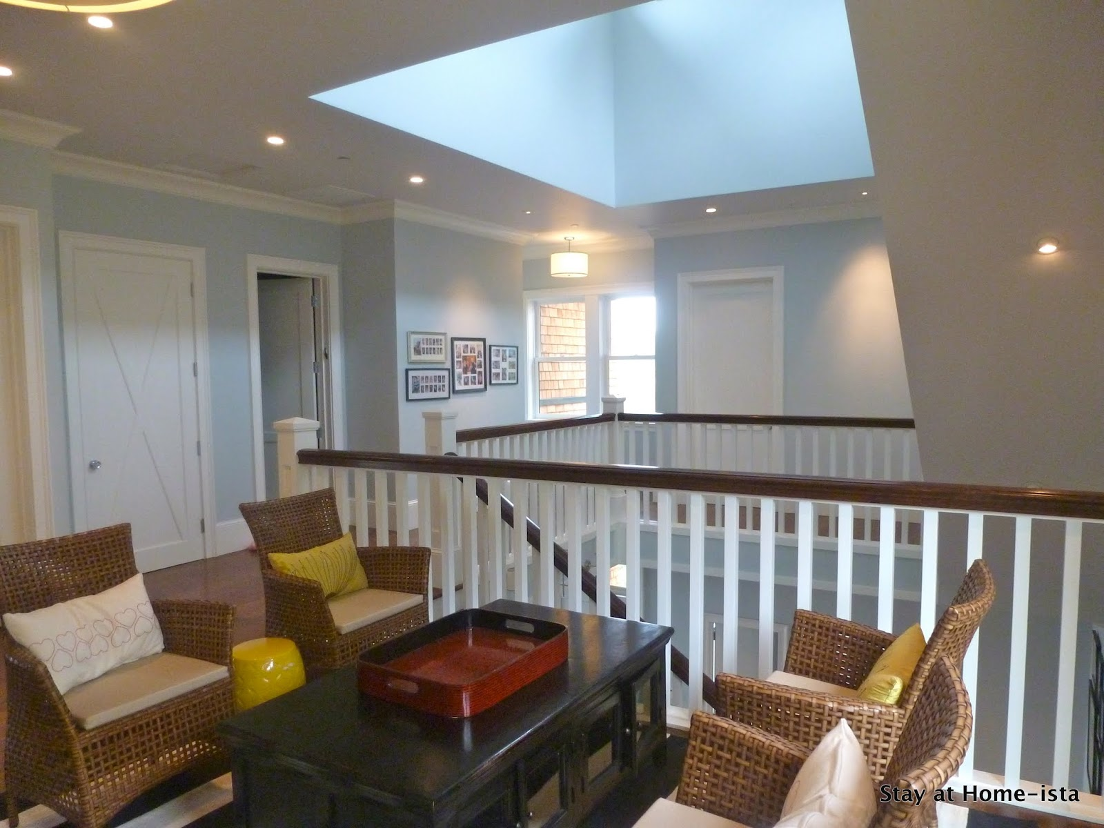 Stay at home ista paint colors for Upstairs loft ideas