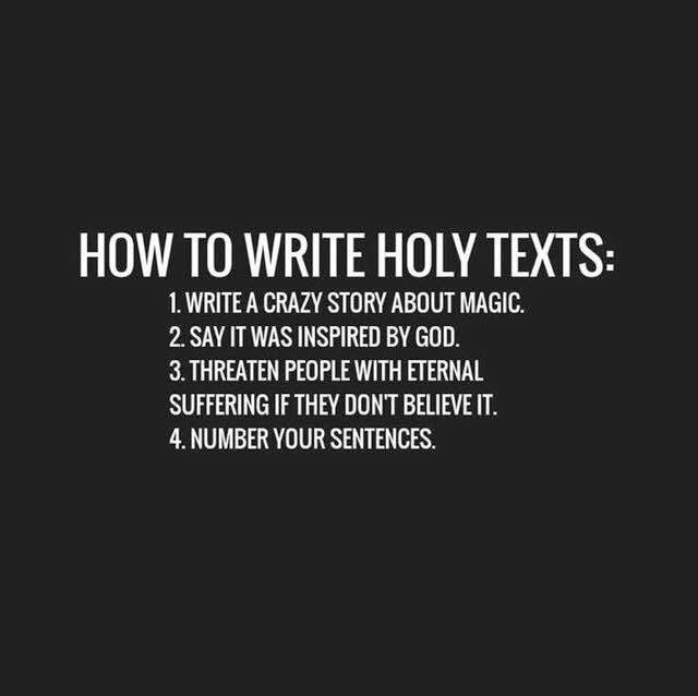 Funny How To Write Holy Texts Picture