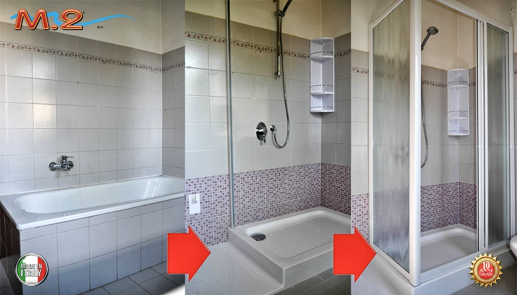 Cambio vasca in doccia tecnobad sud