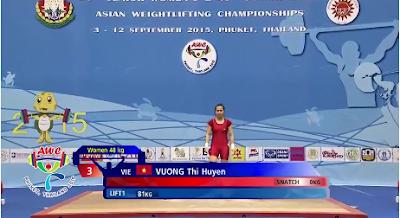vận động viên cử tạ vô địch Châu Á