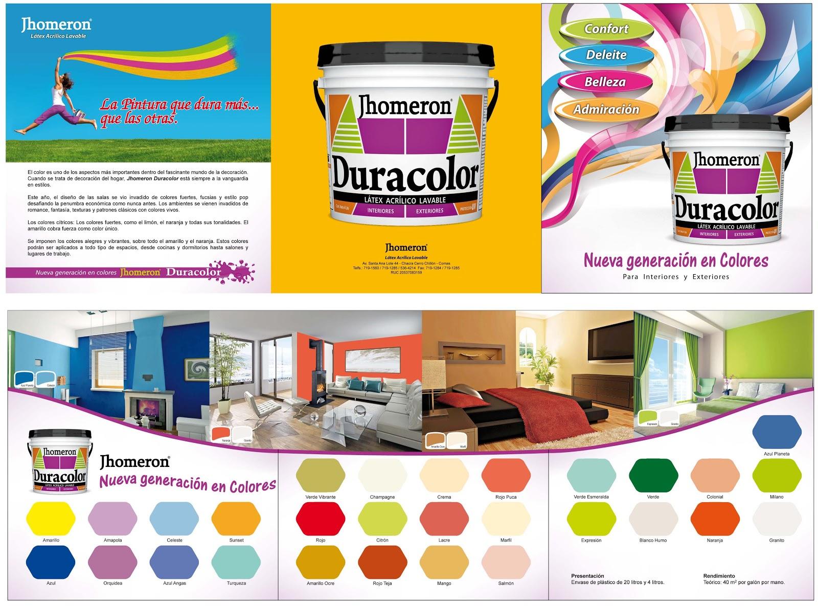 Catalogo de colores duracolor arte dise o y publicidad for Catalogo de colores de pinturas