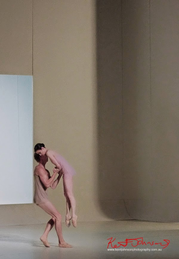 Dancers, ballerina lifted, The Australian Ballet - CHROMA - Preview & Dress Rehearsal - Photographed by Kent Johnson.