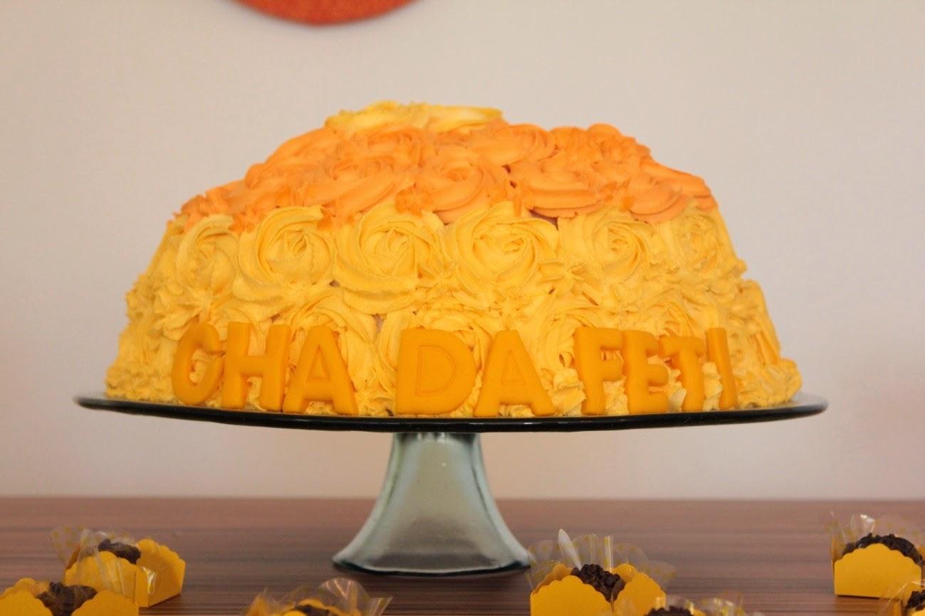 chá de panela, amarelo e laranja, bolo, doces