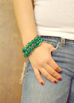abby rose designs emerald beaded bracelet