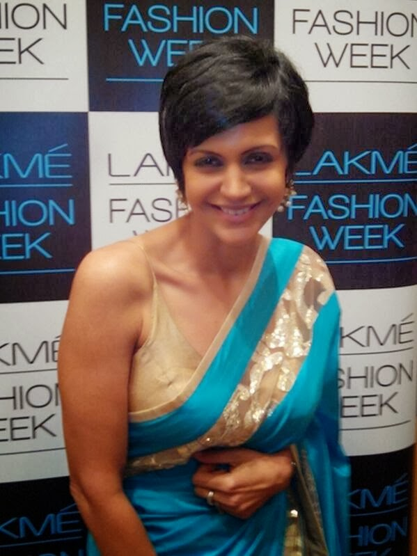 Mandira Bedi in Saree at Lakme Fashion Week 2014