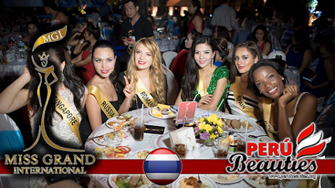 Gala dinner welcome The Contestants of Miss Grand International 2015