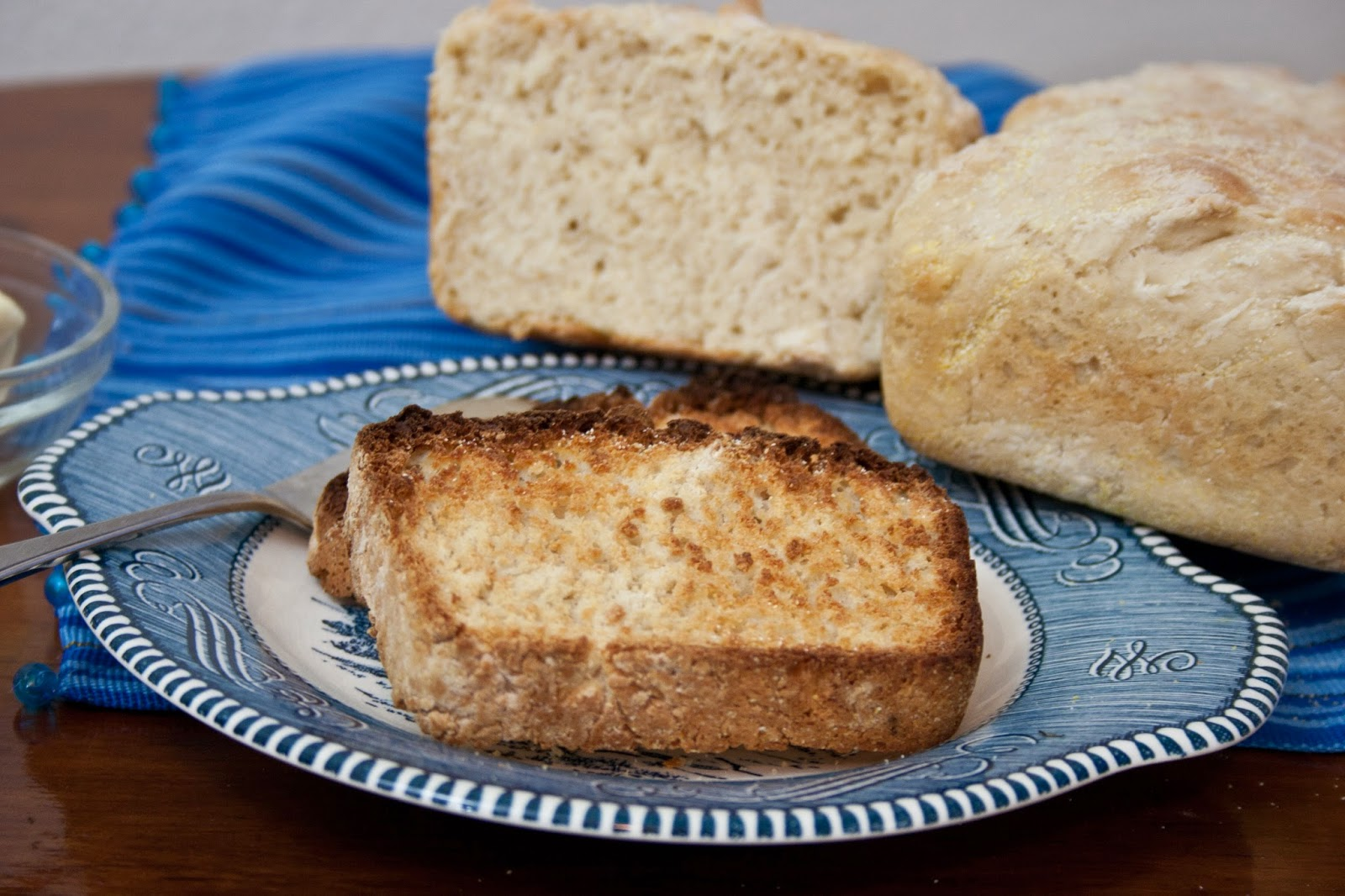 too, am here: English Muffin Bread Loaf