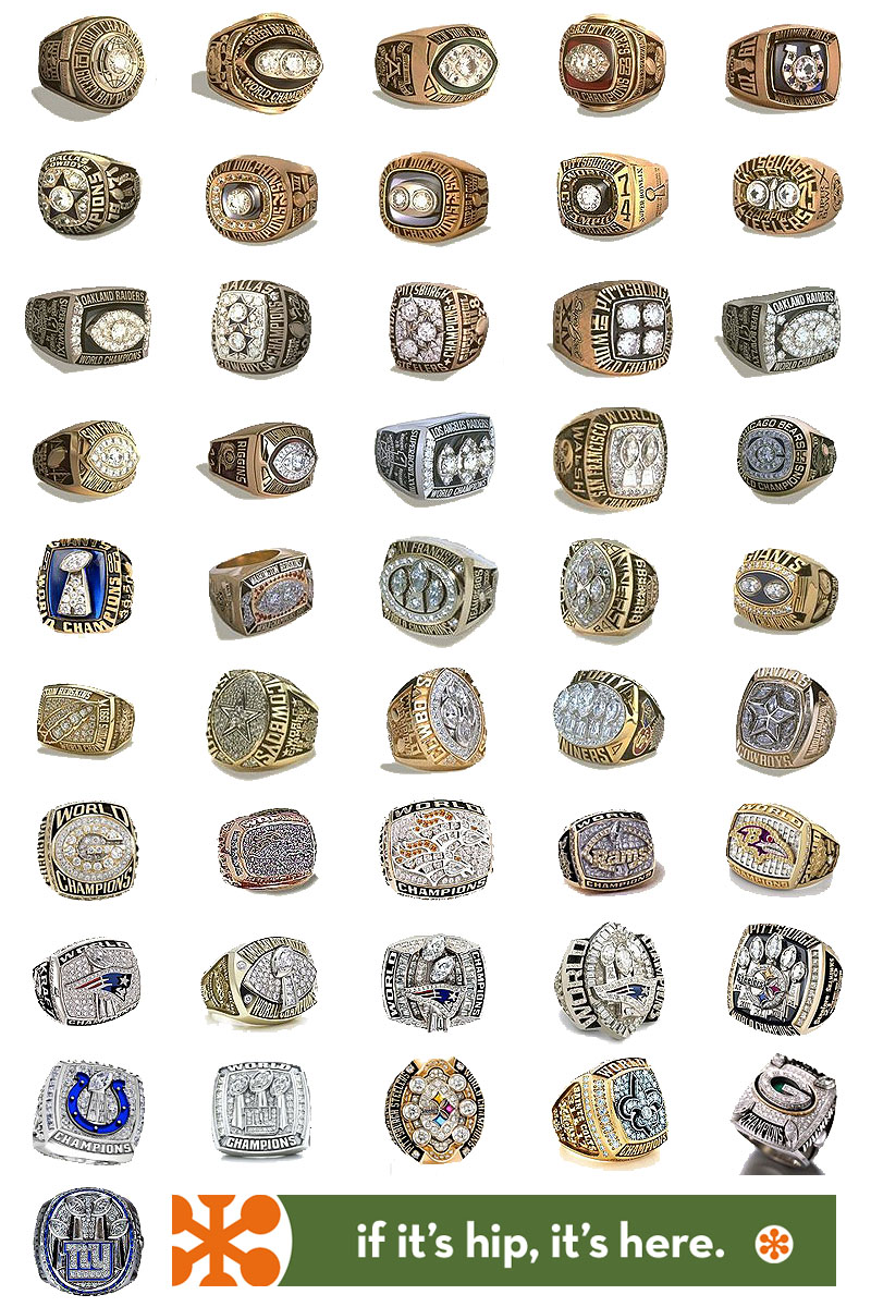 Every Super Bowl Ring