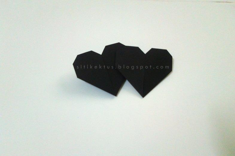 Cara Buat Origami Love Heart Dari Kertas Siti Kektus