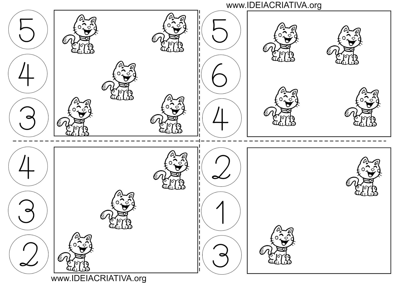 Atividade Número e Quantidade com Flash Cards e Tampas de Garrafa