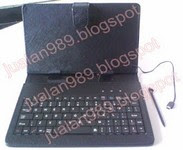 "LEATHER CASE + KEYBOARD TABLET 7"" MINI USB 5 PIN"