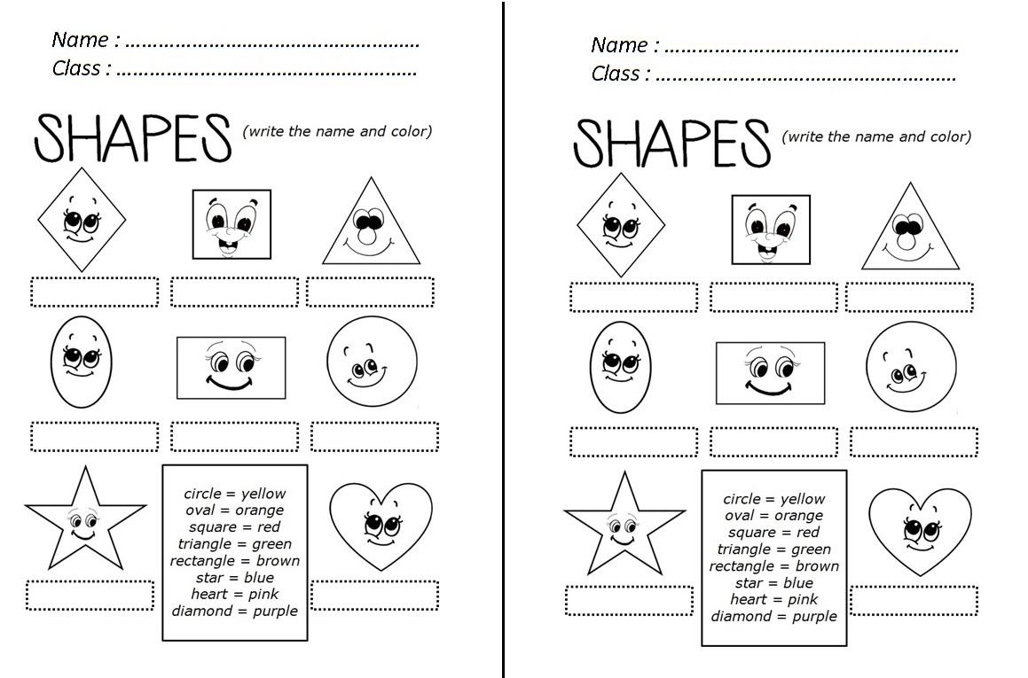 enjoy teaching english shapes worksheet