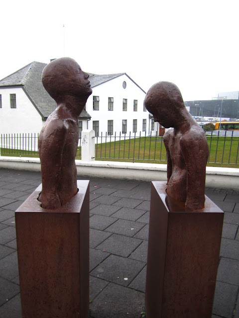 Sculpture in Reykjavik, Iceland.