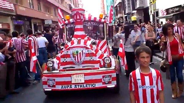 Athletic, Bucarest, Europa League 2012, flashmob, Licenciado Poza, paisaje humano, San Mamés,