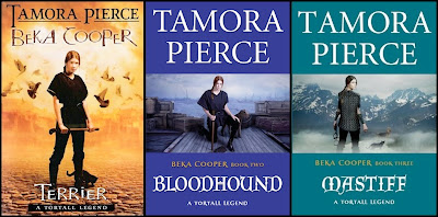 bookcovers of the 3 BEKA COOPER BOOKS - Terrier, Bloodhound, Mastiff by Tamora Pierce