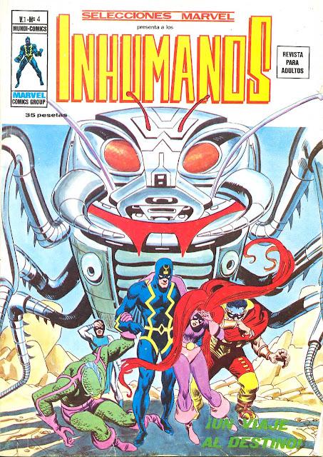 Portada de Los Inhumanos-Selecciones Marvel Volumen 1 Nº 4 Ediciones Vértice