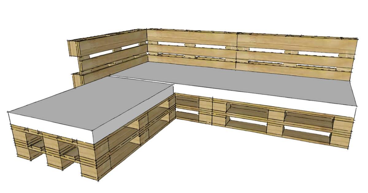 Progettare con i pallet come costruire un divano con i pallet - Costruire un divano in legno ...
