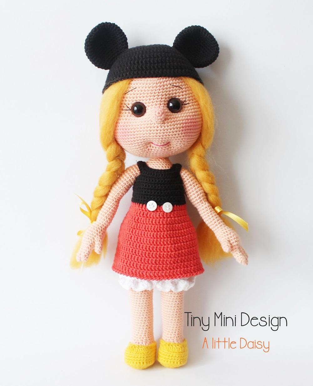 Daisy Doll Knitting Pattern : Mickey Mouse Kostumlu Daisy- Amigurumi Mickey Mouse ...