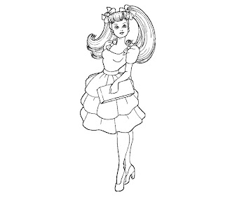 #11 Barbie Coloring Page
