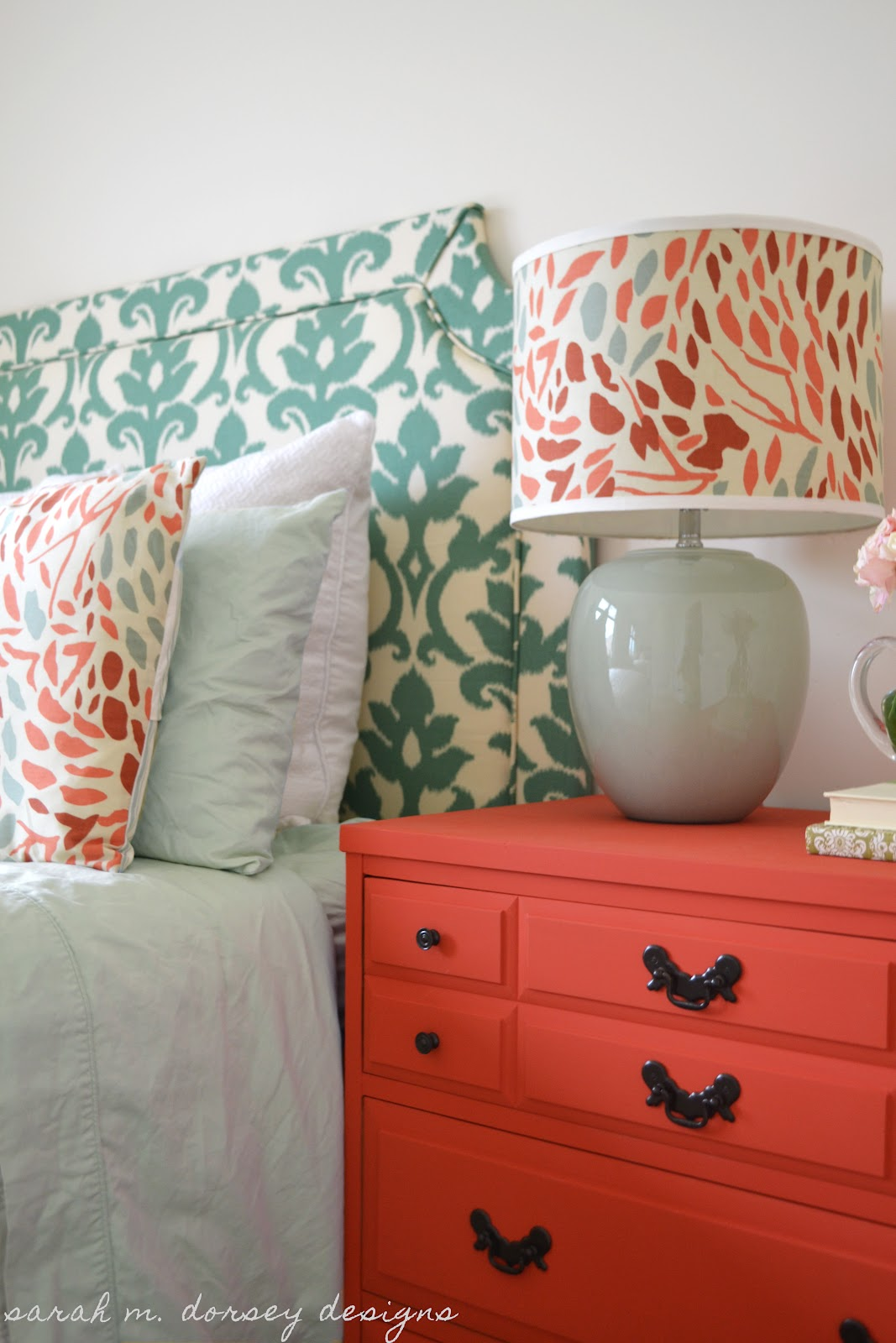 Sarah M Dorsey Designs Diy Belgrave Headboard With Ikat