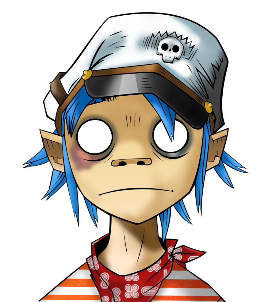 Anime Character 2d : Motion graphics animation gorillaz quot clint eastwood