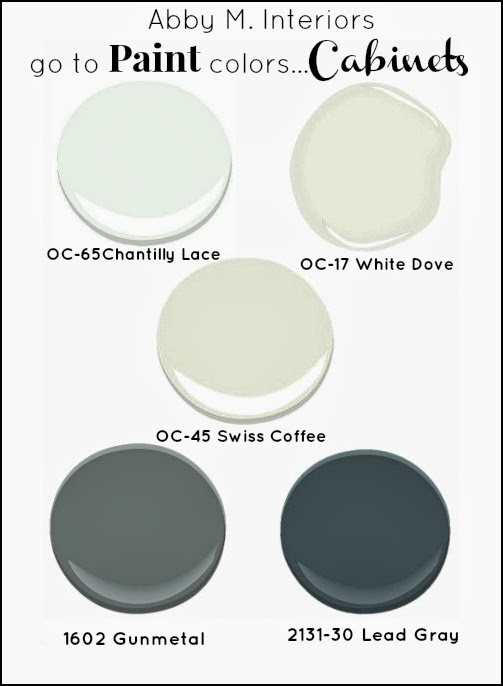 Abby manchesky interiors my go to paint colors for What color paint goes with white kitchen cabinets