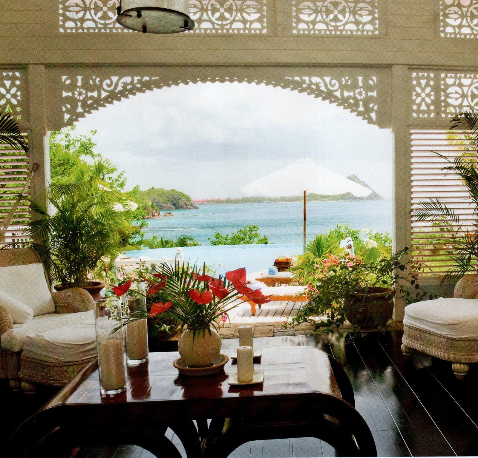 Caribbean style hibiscus villa st lucia for Caribbean decor