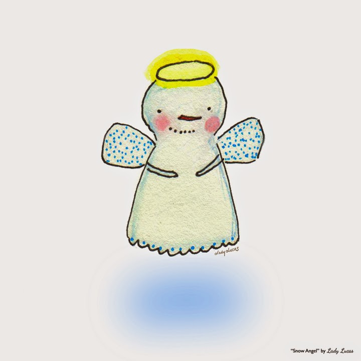 Snow Angel by Lady Lucas | #25DaysofSnowmen
