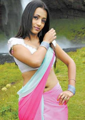 Beautiful Trisha Modelling for South Indian Mall Sarees in Hyderabad