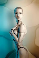 sexy female robot fembot android