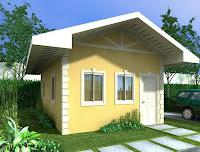modelo de casa chica amarilla un piso
